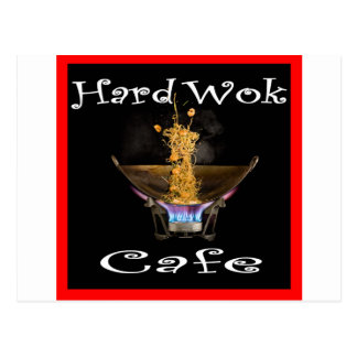 Café duro Tailandia del Wok Tarjetas Postales