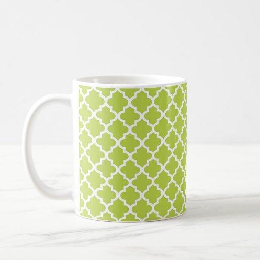 Café elegante geométrico de la teja marroquí de la tazas