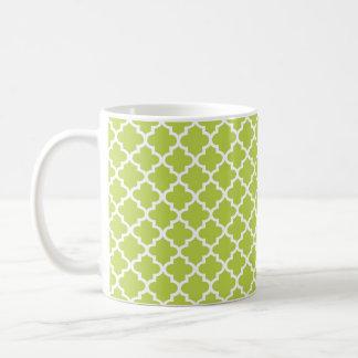 Café elegante geométrico de la teja marroquí de la taza clásica