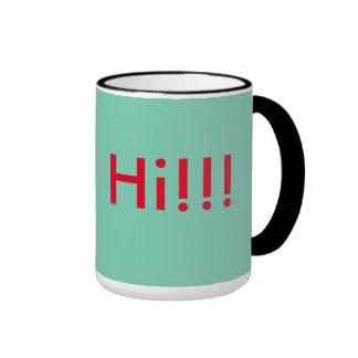 Café emocionante taza de dos colores