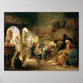 Café en El Cairo, 1870s Impresiones