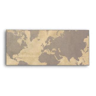 Café en el mapa del mundo de papel del estilo sobre