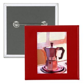Café en la estufa pin