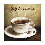 Café en la lona (personalizar con su nombre) impresiones en lona estiradas