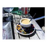 Café en la playa de Normandía Postal