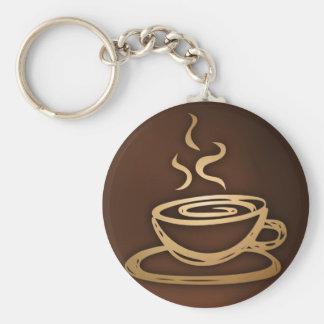 Café en mi taza llavero redondo tipo pin