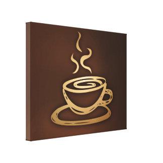 Café en mi taza lona estirada galerias
