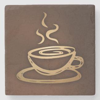 Café en mi taza posavasos de piedra
