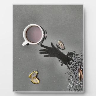 Café en no. 5 de la charca del BlackTop Placas De Plastico