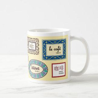 Café en otros idiomas taza clásica