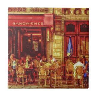 Café en París Francia por el mac de Shawna Azulejo Cuadrado Pequeño