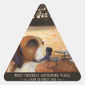 Cafe English Fox Hound Stickers
