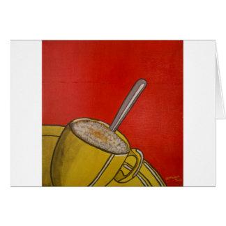Café espumoso II Tarjeta De Felicitación