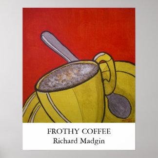 Café espumoso póster