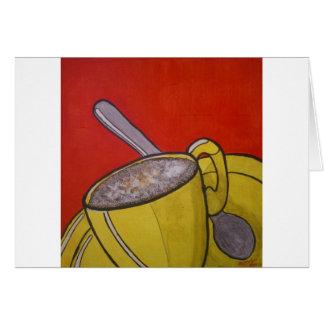 Café espumoso tarjeta de felicitación
