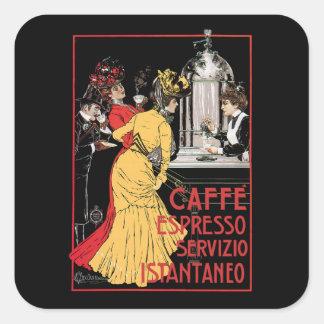 Café express de Caffe Pegatina Cuadrada