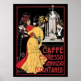 Café express de Caffe Póster