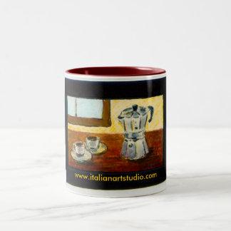 Café express de la taza de café romano