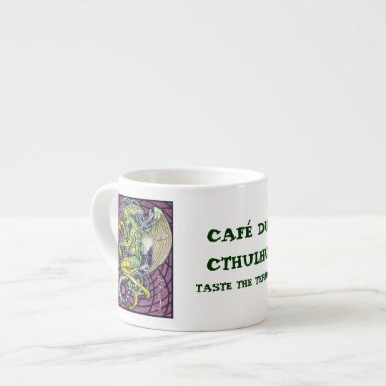 Café express de la taza de Cthulhu del pavor