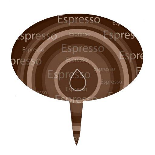 Café express decoraciones de tartas