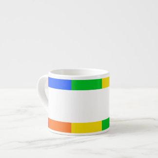 Café express del arco iris taza de espresso