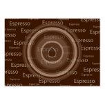 Café express plantilla de tarjeta personal