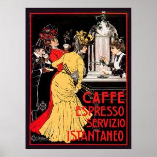 Café express Servizio Istantaneo de Caffe Póster