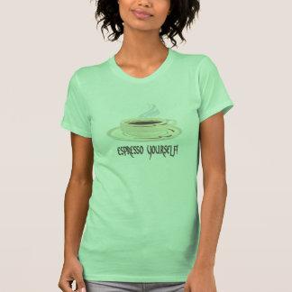 ¡Café express usted mismo! Camisetas