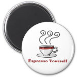 Café express usted mismo imanes para frigoríficos