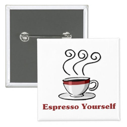 Café express usted mismo pin