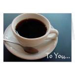 Café. Felicitación