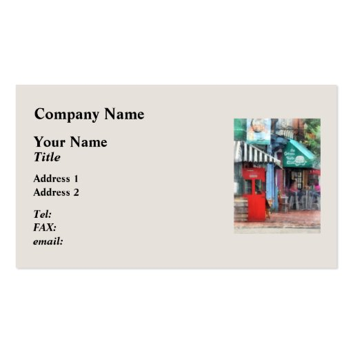 Cafe Fells Point MD Business Cards
