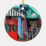Cafe Fells Point MD Double-Sided Ceramic Round Christmas Ornament