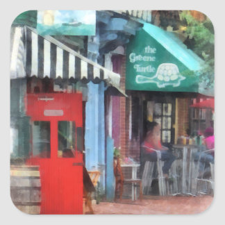 Cafe Fells Point MD Square Sticker