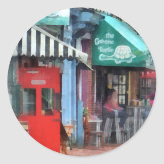 Cafe Fells Point MD Classic Round Sticker