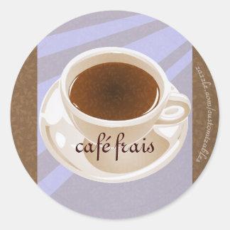 Café frais classic round sticker