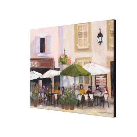 Café francés del país impresión en lienzo