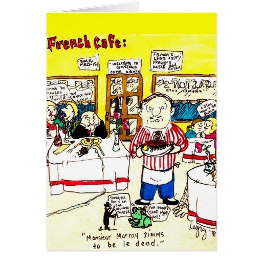 Café francés - tarjeta