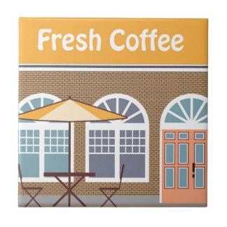 Café fresco del café azulejo cuadrado pequeño