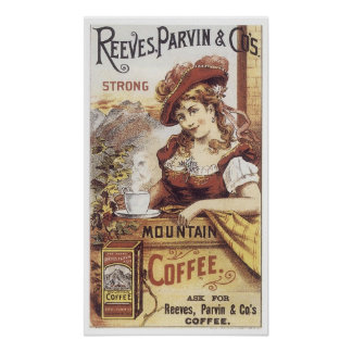 Café fuerte de Reeves Parvin Póster