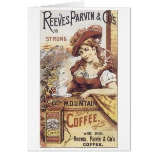 Café fuerte de Reeves Parvin Tarjeta De Felicitación
