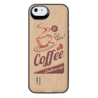 Café Funda Con Bateía Para iPhone SE/5/5s