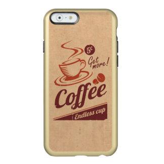 Café Funda Para iPhone 6 Plus Incipio Feather Shine