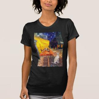 Café - galgo italiano 5 camiseta