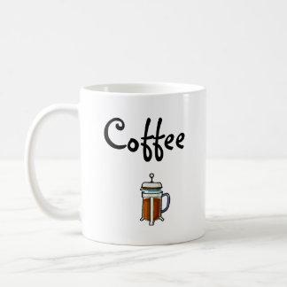 Café (grande para los zurdos) taza básica blanca