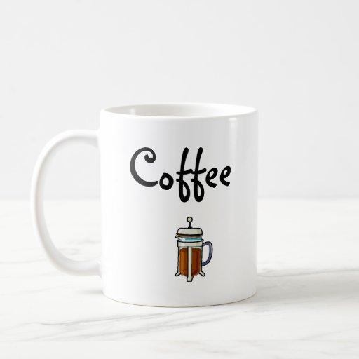 Café (grande para los zurdos) taza clásica