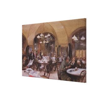 Cafe Griensteidl, Vienna, 1890 Canvas Print