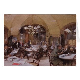 Cafe Griensteidl, Vienna, 1890 Card