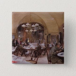 Cafe Griensteidl, Vienna, 1890 Pinback Button