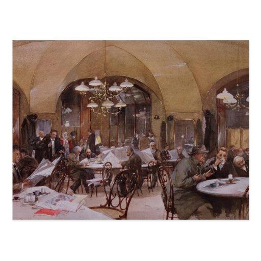 Cafe Griensteidl, Vienna, 1890 Postcard